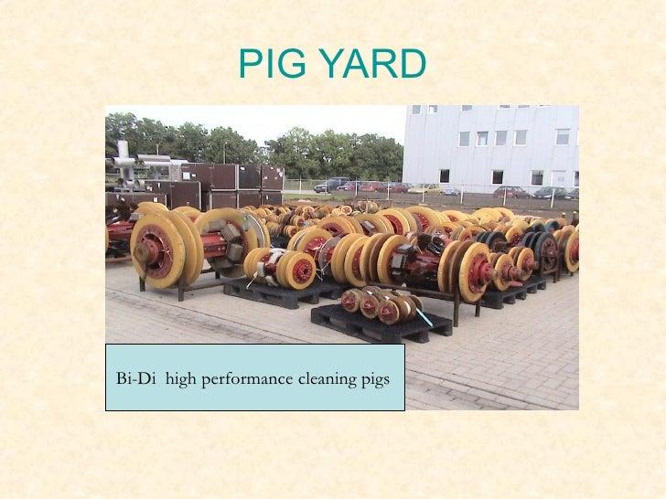 Pigging in oil industry