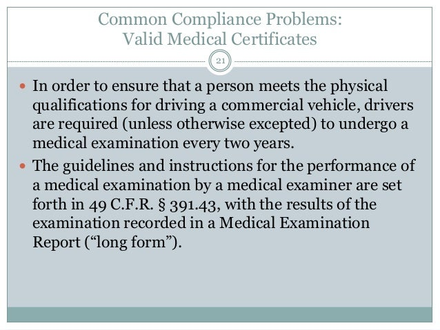 Top Oversights in FMCSA and DOT Compliance and Document Report