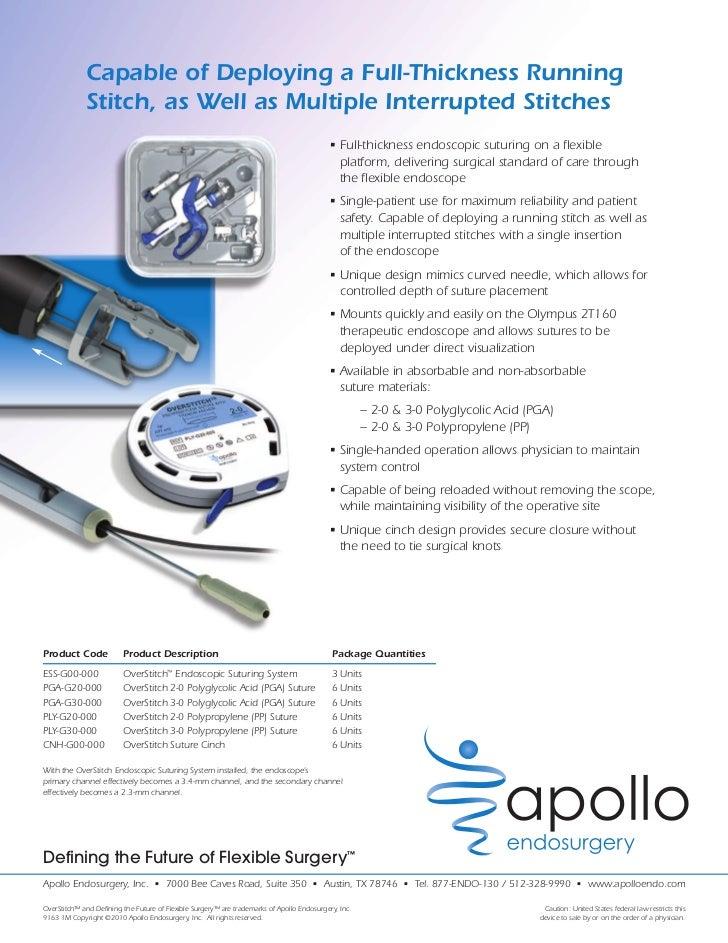 Endoscope Design: Overstitch By Apollo Endosurgery
