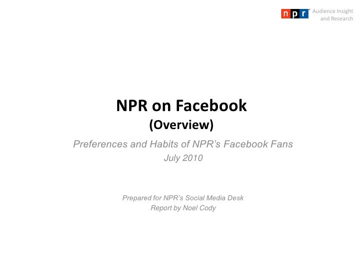 NPR Facebook Fans Survey - Findings Overview