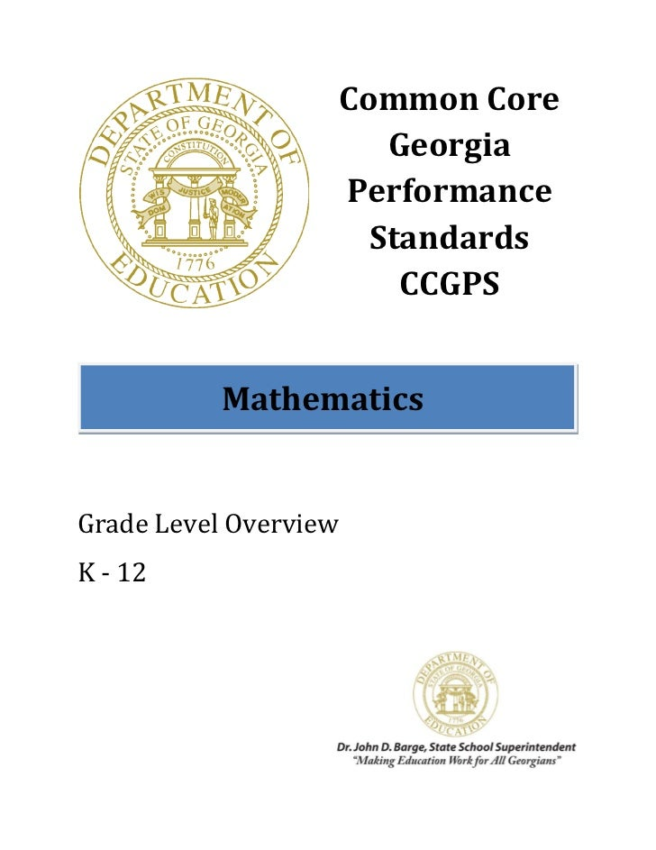 Common Core                          Georgia                       Performance                         Standards          ...