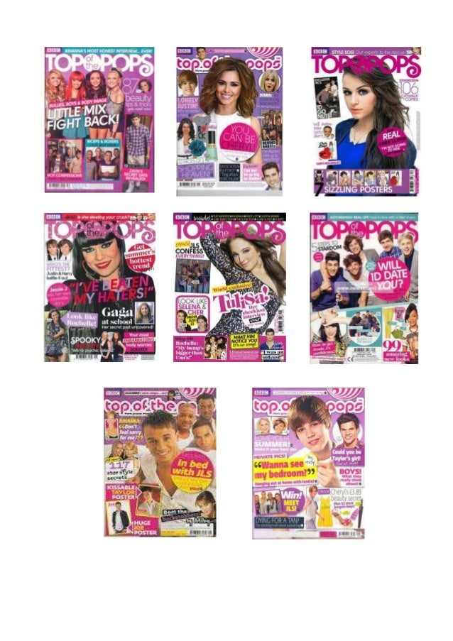 Overview    All of the covers seen above are front covers from the Top of the Pops  Magazine, meaning they are all created...