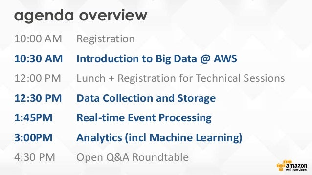 The AWS Big Data Platform – Overview Slide 2
