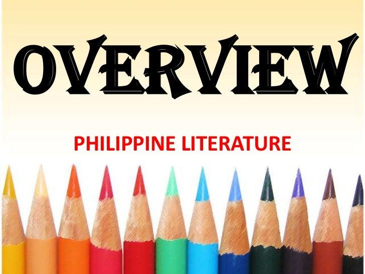 OVERVIEW PHILIPPINE LITERATURE