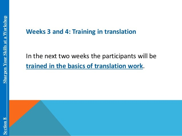 overview of translation and translation training Servicing toronto, mississauga, brampton, malton, don mills, peel, gta tcet is proud to offer programs in areas of employment and job search, career, newcomer settlement, language.