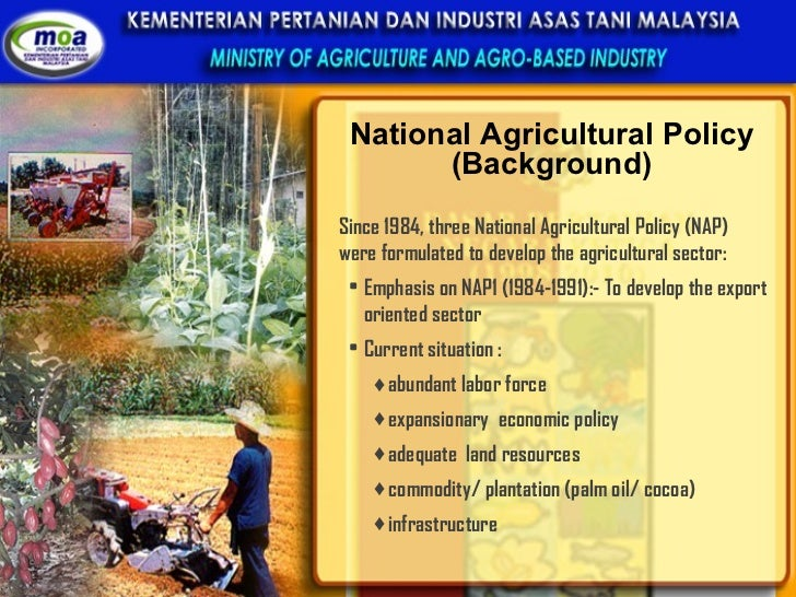 NATIONAL AGRICULTURE POLICY; 15.