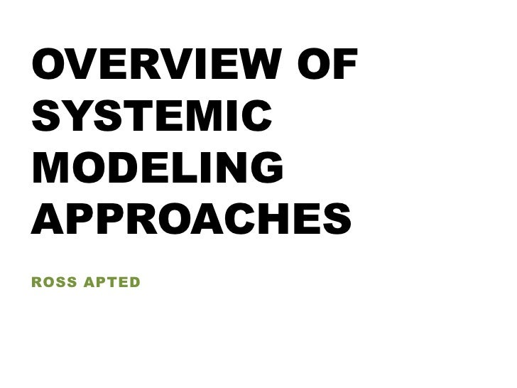 OVERVIEW OFSYSTEMICMODELINGAPPROACHESROSS APTED