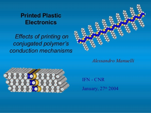 Printed Plastic Electronics Effects of printing on conjugated polymer's conduction mechanisms IFN - CNR January, 27th 2004...