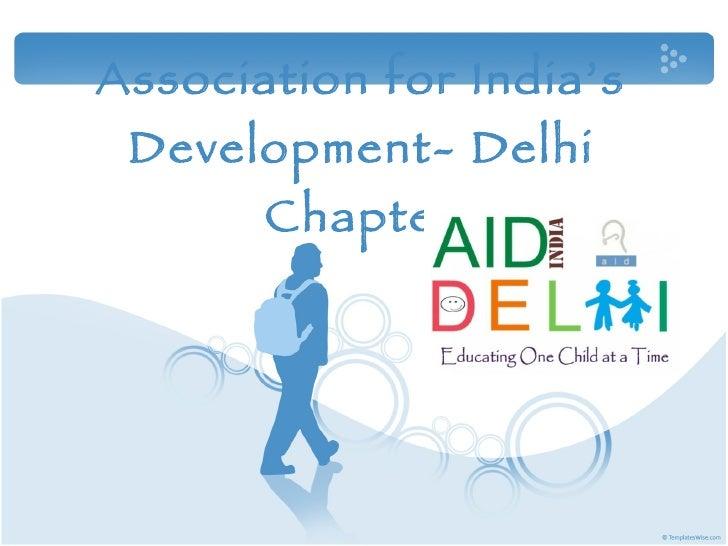 Association for India's Development- Delhi Chapter