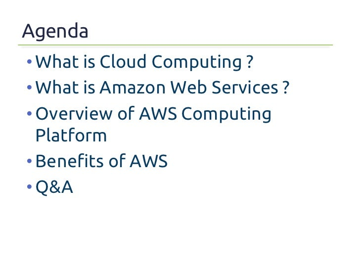 Overview of Amazon Web Services Slide 2