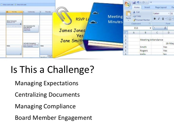 If Yes…..Meet Your Challenges and Save 15-30% of Your Time by Using BoardMax<br />RSVP List<br />James Jones       Yes<br...
