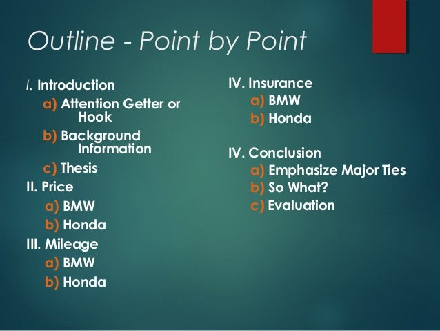 point by point organization of essays