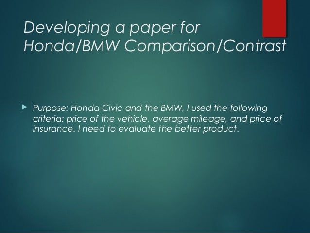 compare and contrast about bmw and