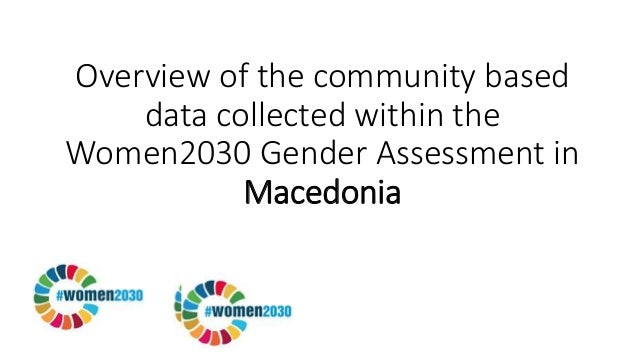 Overview of the community based data collected within the Women2030 Gender Assessment in Macedonia