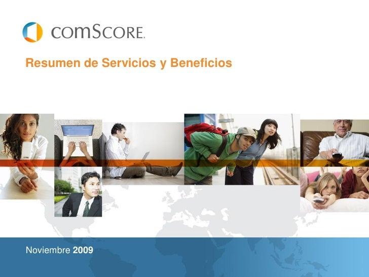 Resumen de Servicios y Beneficios     Noviembre 2009