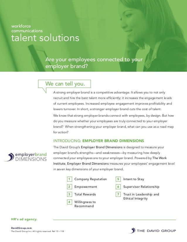 A strong employer brand is a competitive advantage. It allows you to not only recruit and hire the best talent more effici...
