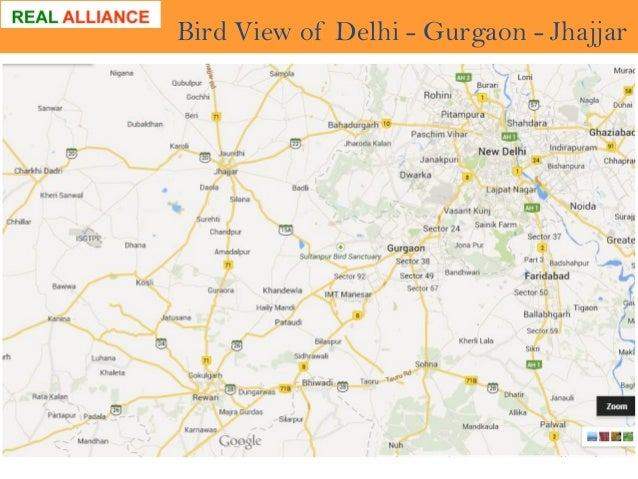 Bird View of Delhi - Gurgaon - Jhajjar