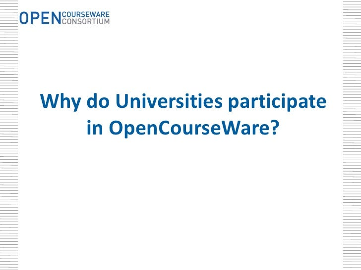 japan opencourseware consortium Open educational resources (oer)  from mit opencourseware are china open resources for education and opencourseware in japan the opencourseware consortium.