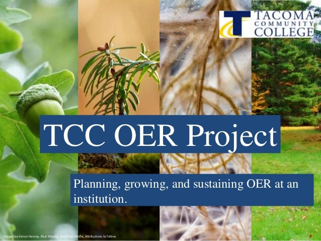 Overview of Tacoma Community College OER Project