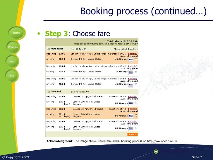 Overview Of Airline Booking Process