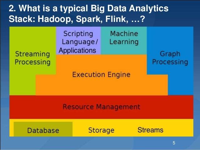 2. What is a typical Big Data Analytics Stack: Hadoop, Spark, Flink, …? 5