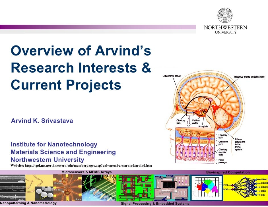 Overview of Arvind's      Research Interests &      Current Projects       Arvind K. Srivastava        Institute for Nanot...