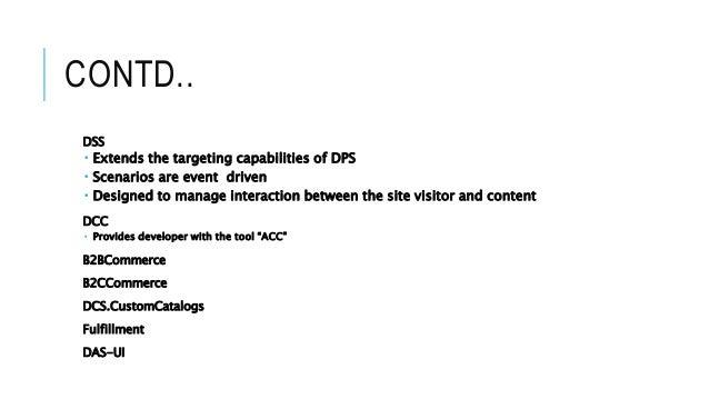 Overview of atg framework