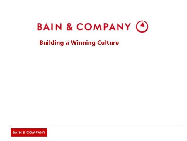 Building a Winning Culture