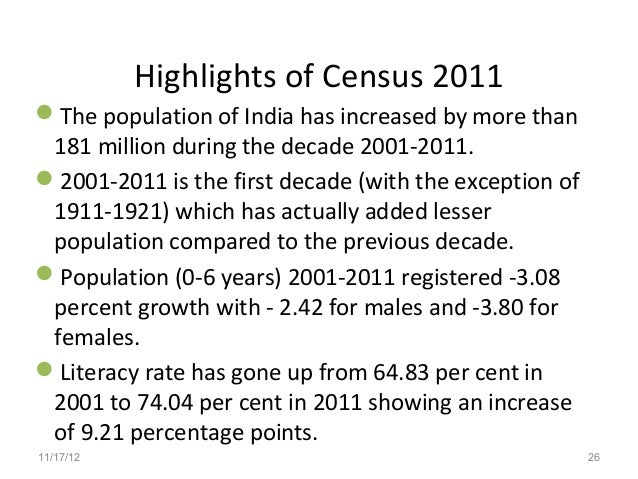census 2011 Find census 2011 latest news, videos & pictures on census 2011 and see latest updates, news, information from ndtvcom explore more on census 2011.