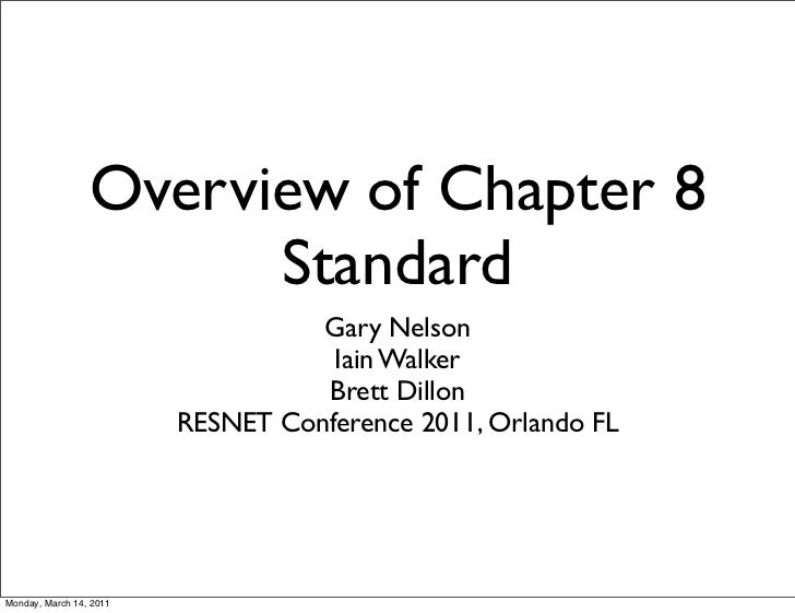 Overview of Chapter 8                       Standard                                   Gary Nelson                        ...
