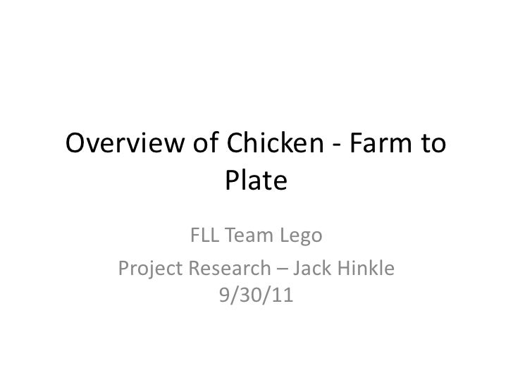 Overview of Chicken - Farm to Plate<br />FLL Team Lego<br />Project Research – Jack Hinkle 9/30/11<br />