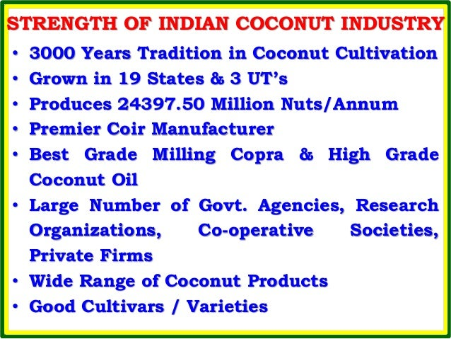 overview of the coconut industry In the coconut industry, downstream processing plays vital role as the different   this article aims to review coconut processing and related issues with special.