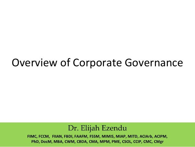 Overview of Corporate Governance