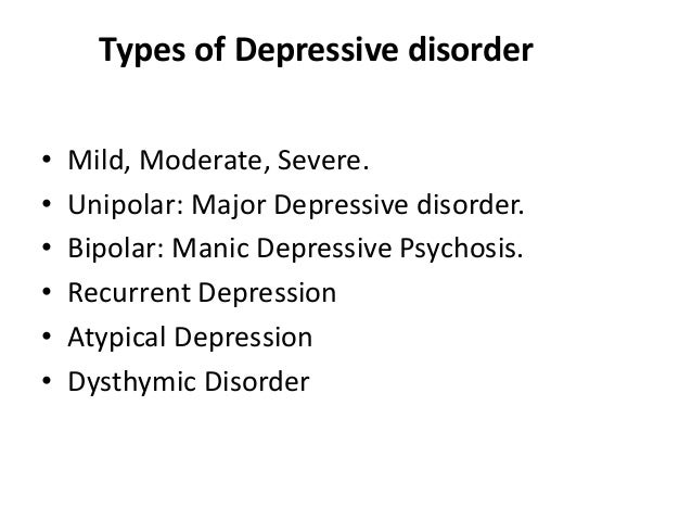 an overview of depressive disorder Prevention of depressive disorders is one of the most important challenges for  health care in coming decades depressive disorders in all age.
