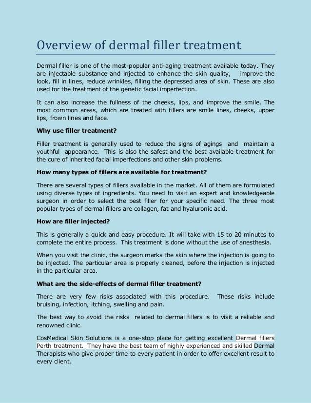 Overview of dermal filler treatment