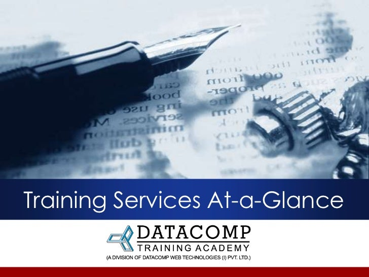 Training Services At-a-Glance