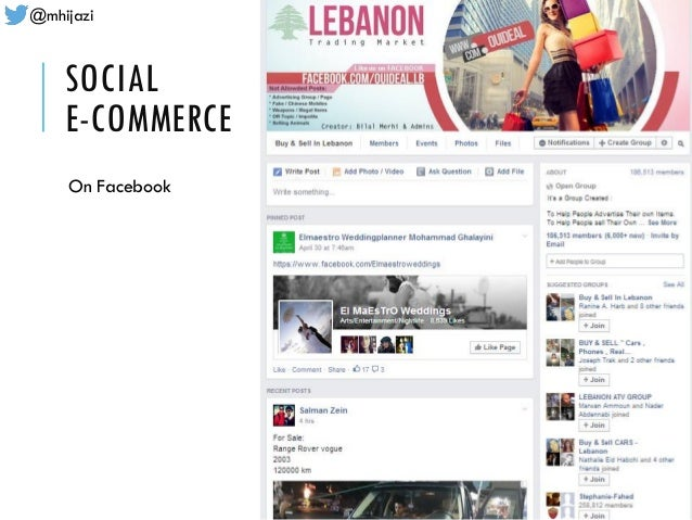 @mhijazi SOCIAL E-COMMERCE On Facebook