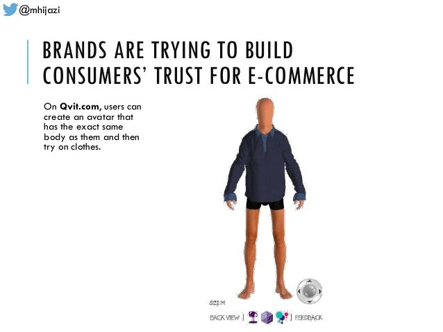 @mhijazi BRANDS ARE TRYING TO BUILD CONSUMERS' TRUST FOR E-COMMERCE On Qvit.com, users can create an avatar that has the e...