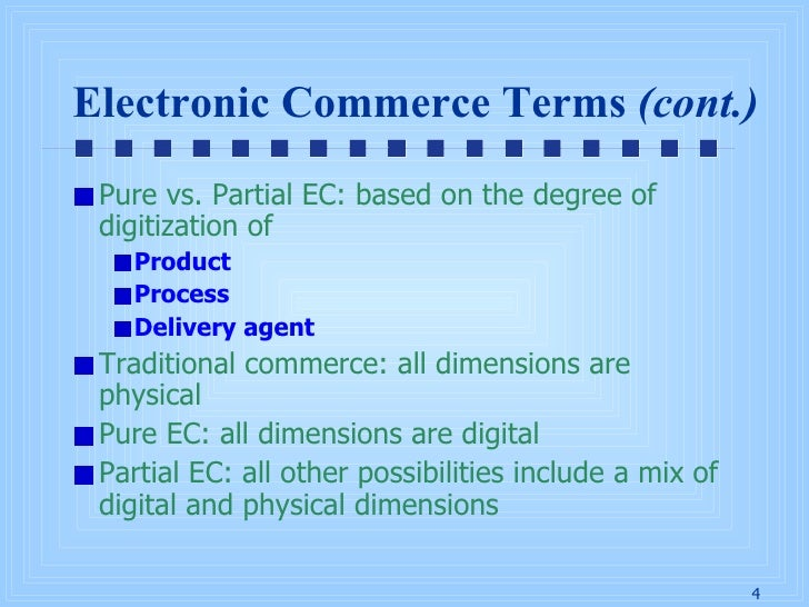 chap1 overview of electronic commerce This type of e-commerce is very common in crowdsourcing based projects a large number of individuals make their services or products available for purchase for companies seeking precisely these types of services or products 5 b2a all transactions conducted online between companies and public administration.