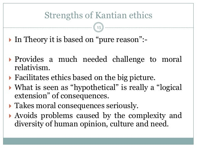 a report on kants ethical theories Kant employs his corroboration of the subsistence of metaphysics as a discipline in his ethical philosophy …if a law is to have moral force, ie, to be the basis of an obligation, it must carry with it absolute necessity (kant preface) this dictum forms the base for kant's ethical theory.