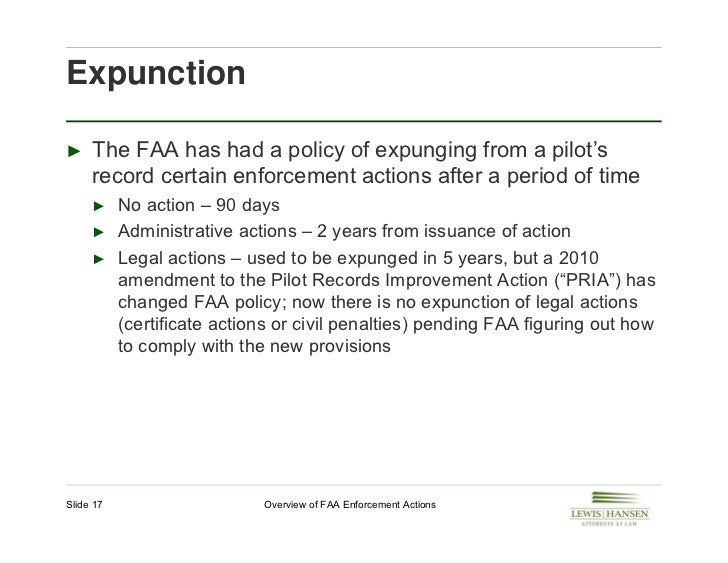 Overview of FAA enforcement actions.July 2012