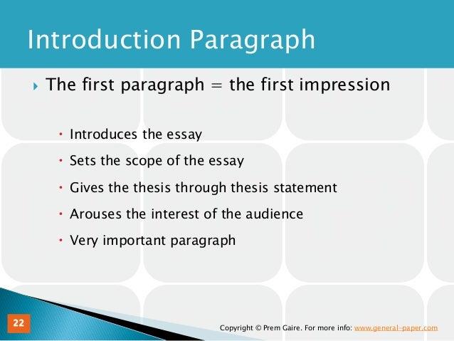 Charmant ... Essay 21; 22.