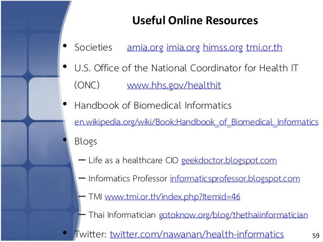 Overview of Health Informatics (July 2, 2015)