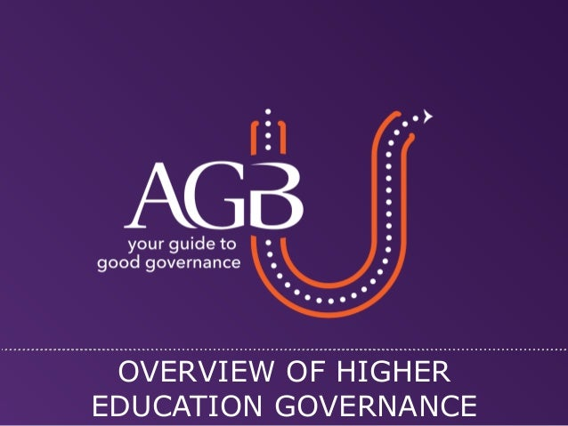 OVERVIEW OF HIGHER EDUCATION GOVERNANCE  © 2014 ASSOCIATION OF GOVERNING BOARDS OF UNIVERSITIES AND COLLEGES 1133 20TH STR...