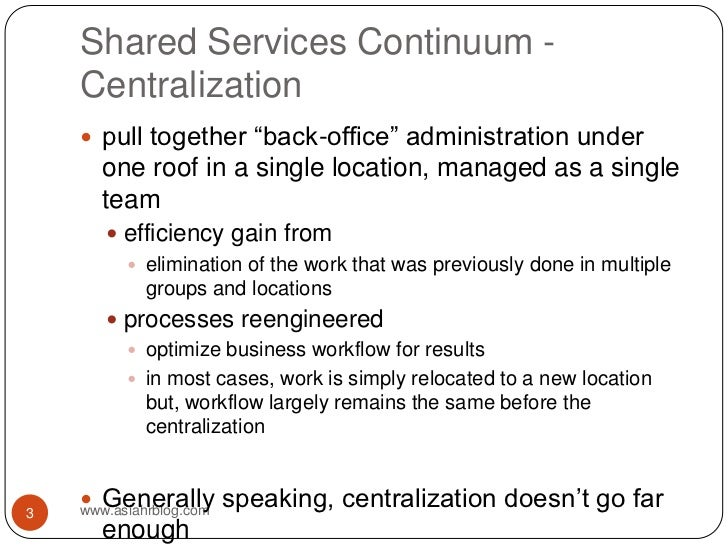 Overview of HR Shared Services Slide 3
