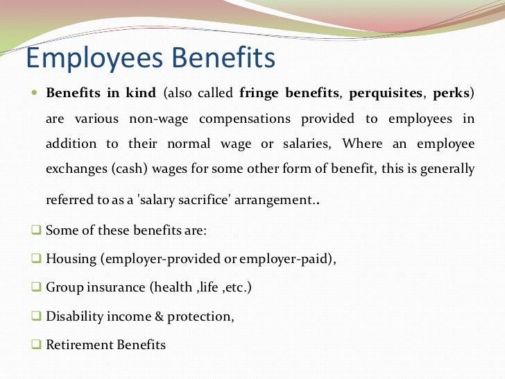 What Is a Fringe Benefit? | Bizfluent