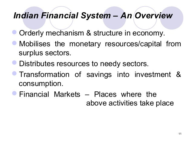 evaluation and development of financial system in india