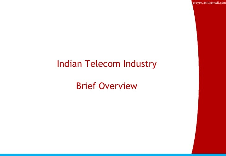 an overview of the telecommunications industry in canada Telecommunications in canada: canadian telecommunications history, contributions, technology achievements, research, industry, news and resources.