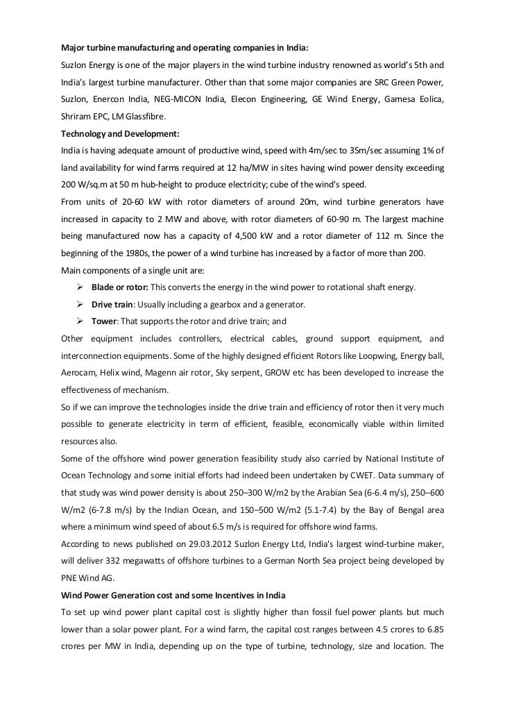 Overview Of Indian Wind Power 2011