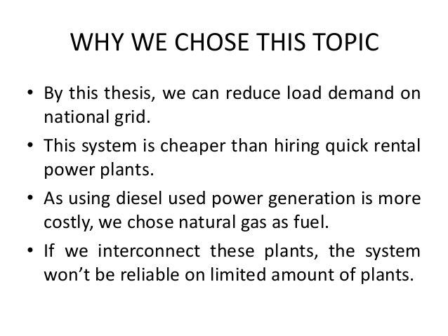 Diesel power plant thesis